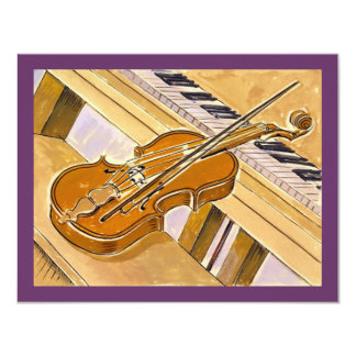"Musical Instruments Recital Or Party INVITATION 4.25"" X 5.5"" Invitation Card"