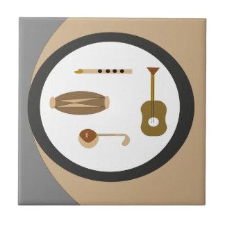 musical instruments tile