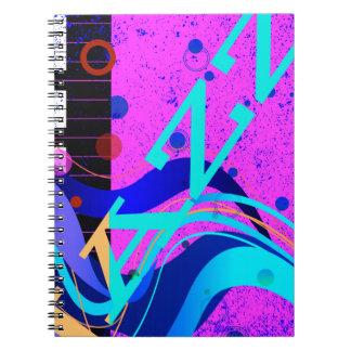 Musical Jazz Style Background Notebooks