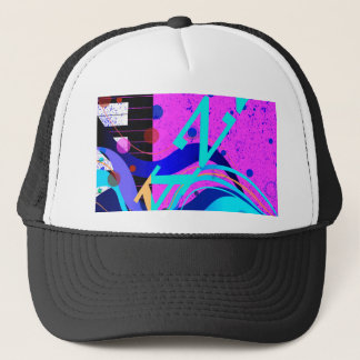 Musical Jazz Style Background Trucker Hat