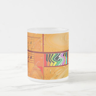 Musical Journey Frosted Glass Coffee Mug