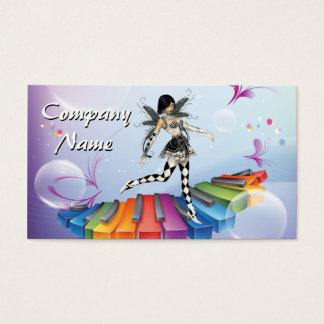 Musical Keyboard Faerie Business Card