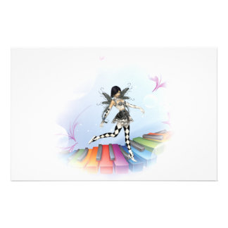 Musical Keyboard Faerie Vignette Stationery
