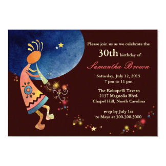 Musical Kokopelli 30th Birthday Party Card