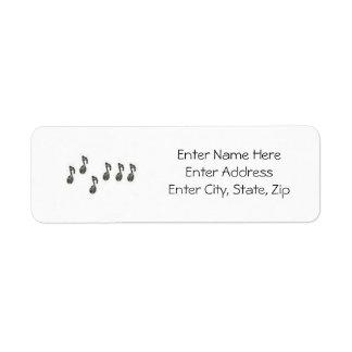 Musical Label #1 Return Address Label