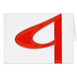 Musical Letter a Vibrant Red Color Greeting Card
