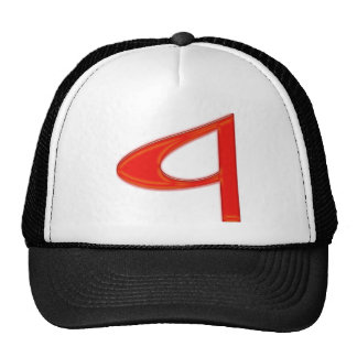 Musical Letter a Vibrant Red Color Hat