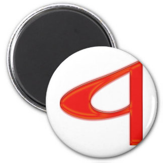 Musical Letter a Vibrant Red Color 6 Cm Round Magnet