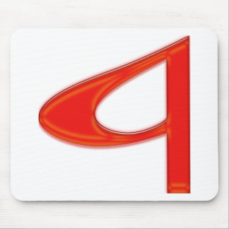 Musical Letter a Vibrant Red Color Mouse Pad