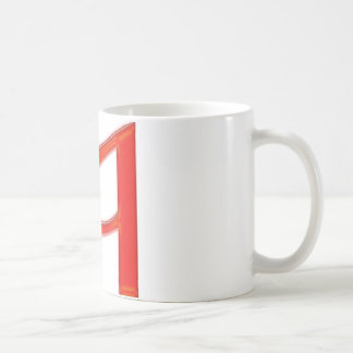 Musical Letter a Vibrant Red Color Coffee Mugs