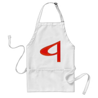 Musical Letter a Vibrant Red Color Standard Apron