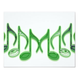 "Musical Letter ""M"" 11 Cm X 14 Cm Invitation Card"