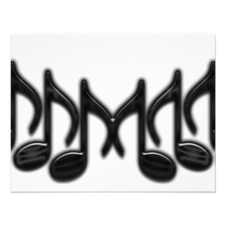 Musical Letter M Personalized Invites