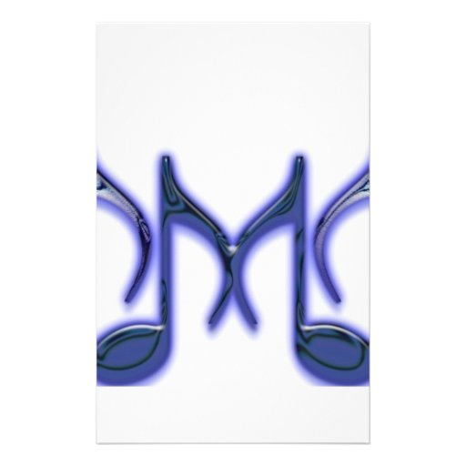 """Musical Letter """"M"""" Personalized Stationery"""