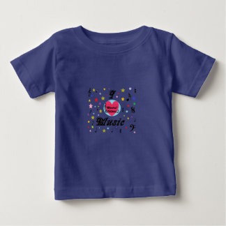 Musical Lifetimes Baby 'I Love Music' T-Shirt