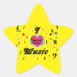 Musical Lifetimes 'I Love Music' Star Sticker