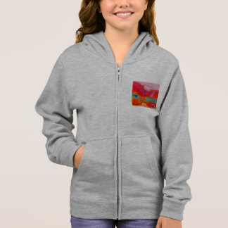 Musical Lifetimes Kids' Red Cello Fleece Hoodie