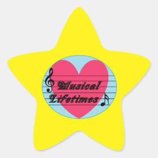 Musical Lifetimes Original Star Shaped Sticker