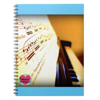 Musical Lifetimes Piano Keys Spiral Notebook