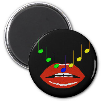 Musical Lips 6 Cm Round Magnet