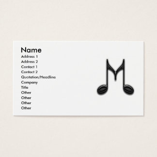"Musical ""M"" Letter Business Card"