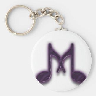 """Musical """"M"""" Letter Key Ring"""