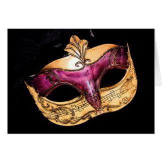 musical mask card