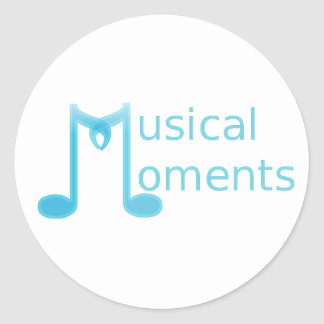 Musical Moments Round Sticker