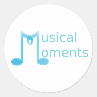 Musical Moments Round Sticker