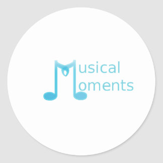 Musical Moments Round Stickers
