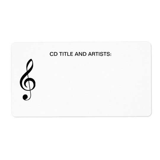 Musical Note CD Music Title and Artist Organiser Shipping Label