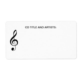Musical Note CD Music Title and Artist Organizer