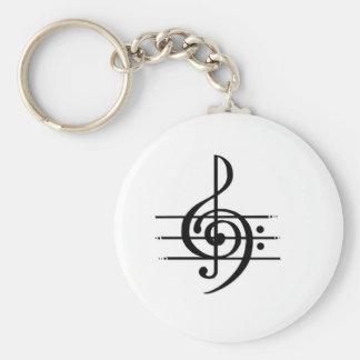 Musical Note Design Key Ring