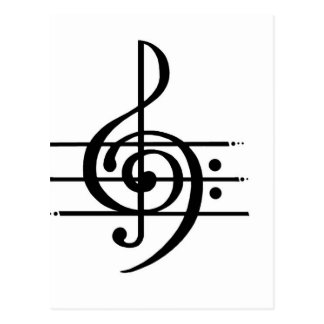 Musical Note Design Postcard