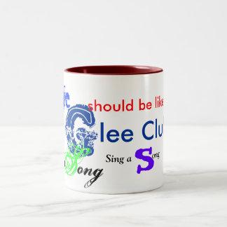 musical_note_, Glee,  life , sing, song Two-Tone Mug