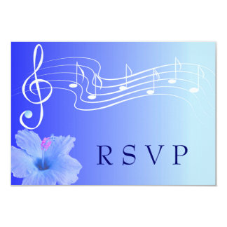 Musical Note &  Hibiscus RSVP Card