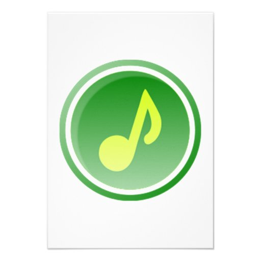 Musical Note Custom Invitations