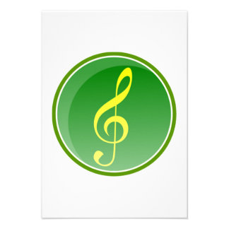 Musical Note Personalized Announcements