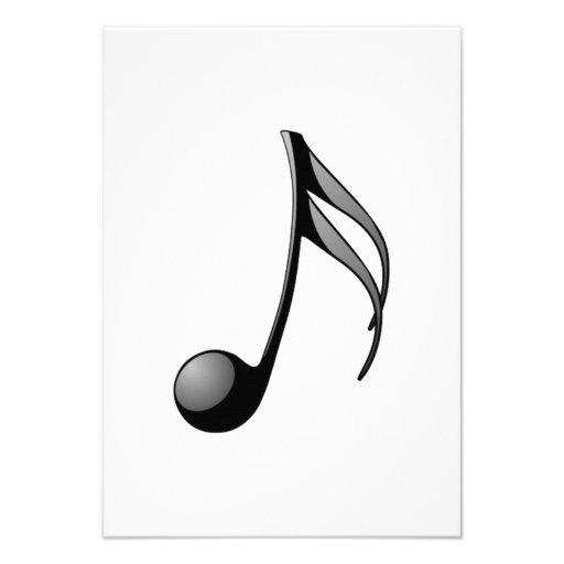 Musical Note Custom Invite