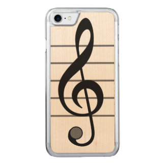 Musical Note Iphone 6 Wood Carved iPhone 8/7 Case