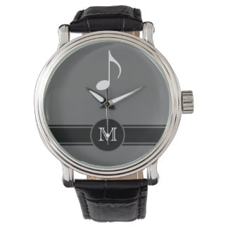 musical note label initial watch