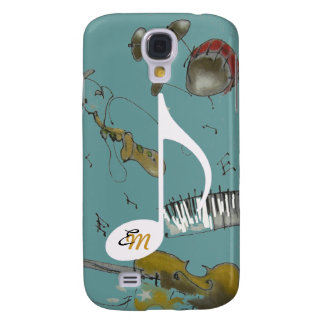 musical note & music instruments galaxy s4 cases