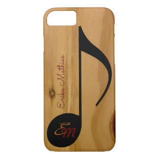 musical note on wood grains personalized iPhone 7 case