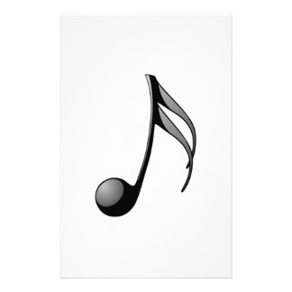 Musical Note Personalized Stationery