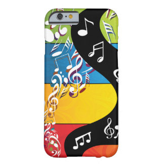 Musical Note Swirls In Color Barely There iPhone 6 Case