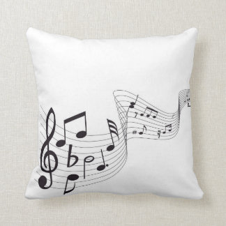 Musical Note Throw Pillow