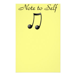 Musical - Note to Self Customized Stationery