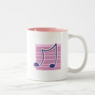 Musical Note Two-Tone Coffee Mug