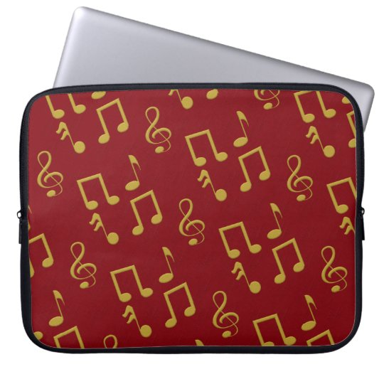 Musical Notes 15 Inch Laptop Sleeve