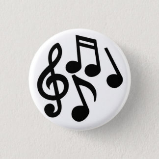 Musical Notes 3 Cm Round Badge
